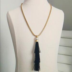 Rachel Zoe Gracie Silk Tassel Necklace, NWT